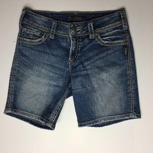 Silver Jeans Suki Surplus Jean Shorts - Sz 27